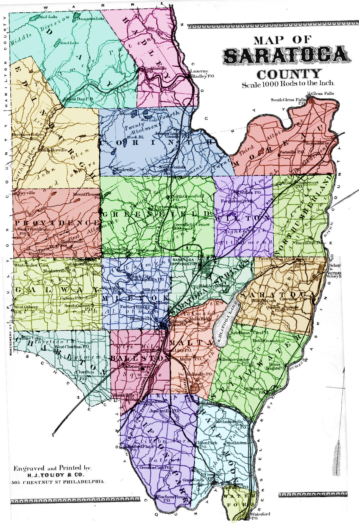 Map of Saratoga County,saratoga county